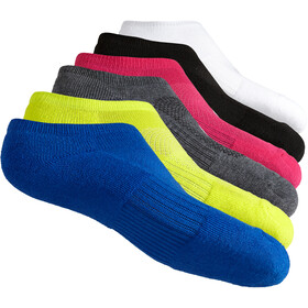 asics Invisible Chaussettes 6 packs, black assorted
